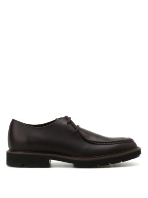 Tod'S: lace-ups shoes - Leather laced-up shoes