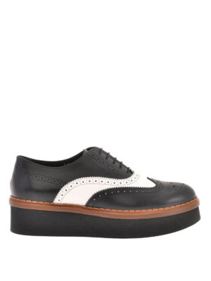 Tod'S: lace-ups shoes - Leather wedge Oxford brogue