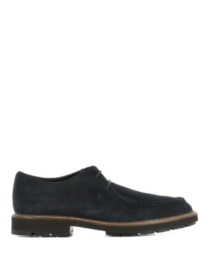 Tod'S: lace-ups shoes - Low top suede lace-up shoes