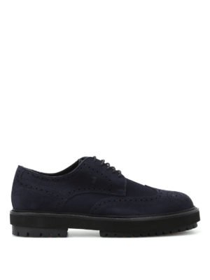 Tod'S: lace-ups shoes - Lug rubber sole suede brogues