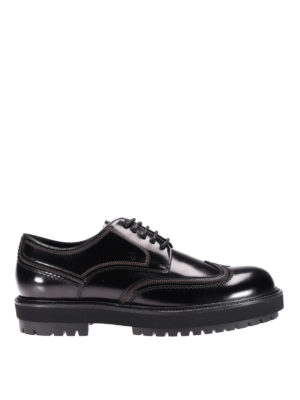 Tod'S: lace-ups shoes - Lug sole leather lace-up shoes