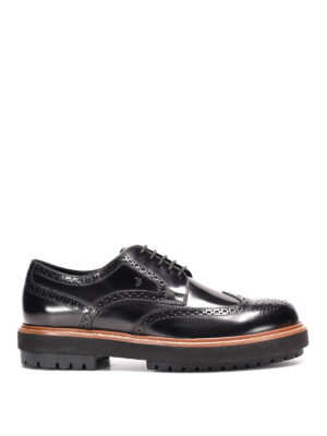 Tod'S: lace-ups shoes - Maxi sole leather Derby brogue