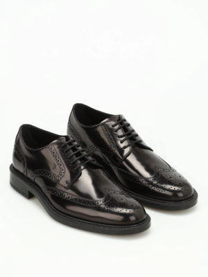 Tod'S: lace-ups shoes online - 45A brushed leather derby shoes