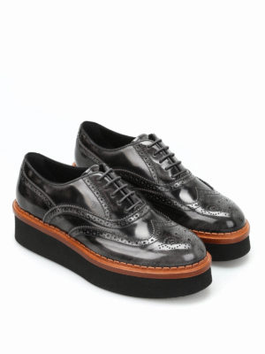 Tod'S: lace-ups shoes online - Brogue faded leather lace-up shoes