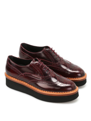 Tod'S: lace-ups shoes online - Brogue lace-ups with chunky sole