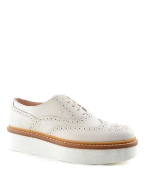 Tod'S: lace-ups shoes online - Brogue lace-ups with platform