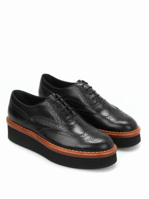 Tod'S: lace-ups shoes online - Brogue leather lace-up shoes