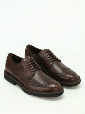 Tod'S: lace-ups shoes online - Brown leather Derby brogues