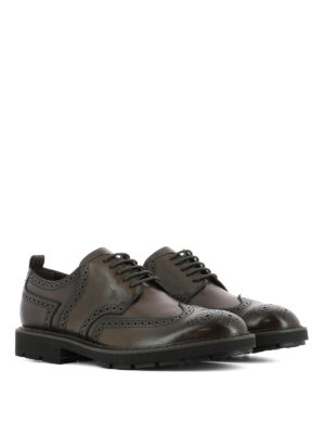 Tod'S: lace-ups shoes online - Brushed leather Derby brogue shoes