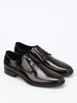 Tod'S: lace-ups shoes online - Brushed leather derby shoes