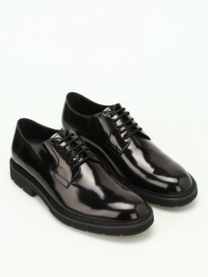 Tod'S: lace-ups shoes online - Brushed leather lace-up shoes