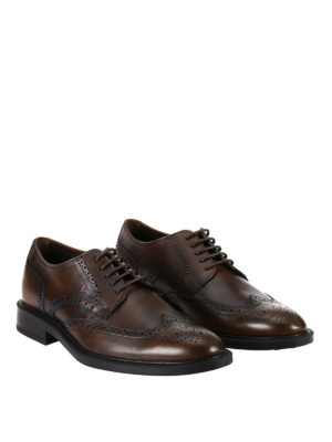 Tod'S: lace-ups shoes online - Derby brogue polished shoes