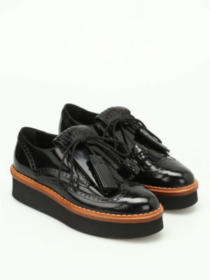 Tod'S: lace-ups shoes online - Fringe and tassels Derby brogues