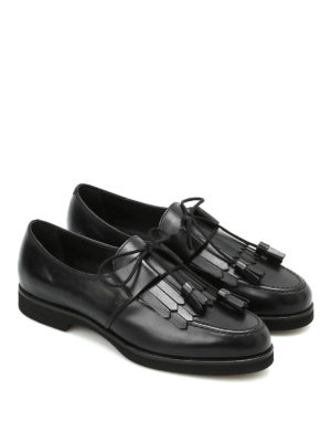 Tod'S: lace-ups shoes online - Fringe detailed leather lace-ups