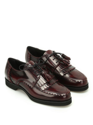 Tod'S: lace-ups shoes online - Fringed Derby with tassels