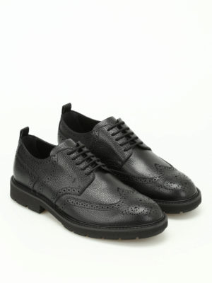 Tod'S: lace-ups shoes online - Hammered leather Derby brogues