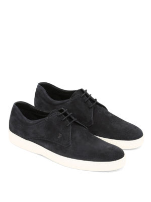 Tod'S: lace-ups shoes online - Laced-up suede derby