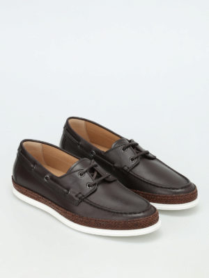 Tod'S: lace-ups shoes online - Leather and jute lace-ups