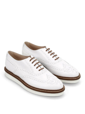 Tod'S: lace-ups shoes online - Leather brogue lace-ups