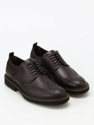 Tod'S: lace-ups shoes online - Leather Derby brogues