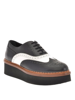 Tod'S: lace-ups shoes online - Leather wedge Oxford brogue