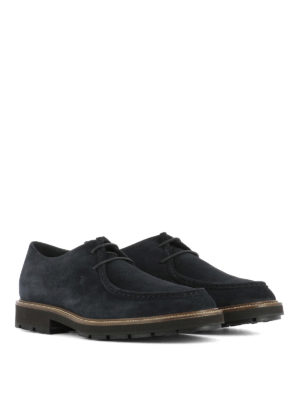 Tod'S: lace-ups shoes online - Low top suede lace-up shoes