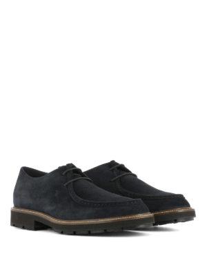 Tod'S: lace-ups shoes online - Low top suede lace-up shoes