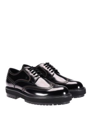 Tod'S: lace-ups shoes online - Lug sole leather lace-up shoes