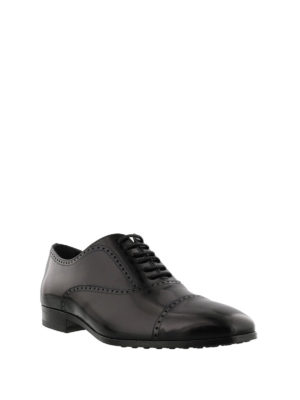 Tod'S: lace-ups shoes online - Polished black leather Oxford shoes