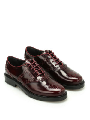 Tod'S: lace-ups shoes online - Polished brogue lace-up shoes