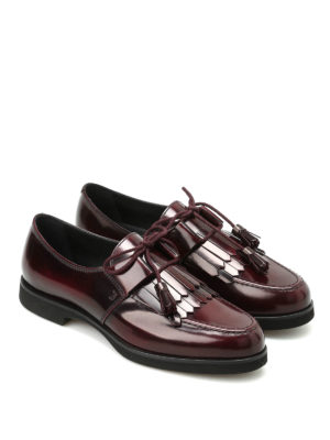 Tod'S: lace-ups shoes online - Shimmering leather lace-ups
