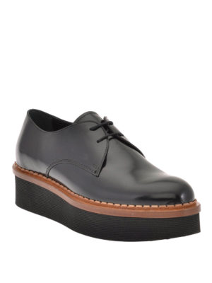 Tod'S: lace-ups shoes online - Smooth leather wedge Derby