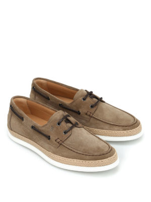 Tod'S: lace-ups shoes online - Suede and jute lace-ups