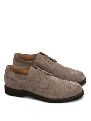 Tod'S: lace-ups shoes online - Suede brogues shoes