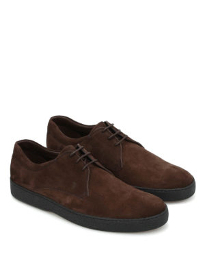 Tod'S: lace-ups shoes online - Suede casual Derby