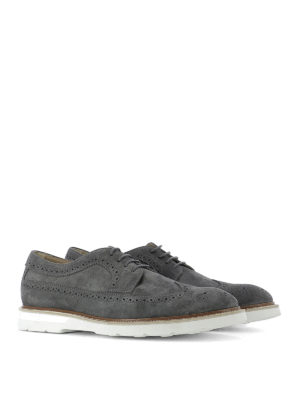 Tod'S: lace-ups shoes online - Suede Derby brogue