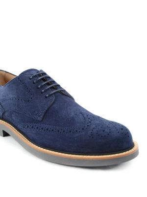 Tod'S: lace-ups shoes online - Suede Derby brogue shoes