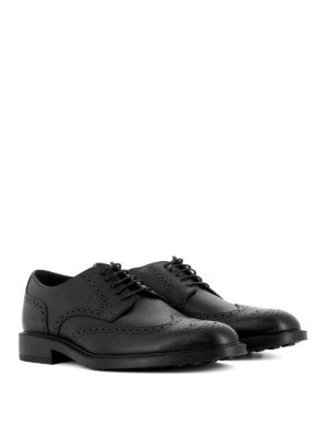Tod'S: lace-ups shoes online - Textured leather Derby brogues
