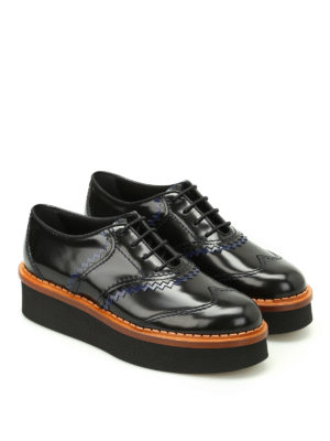 Tod'S: lace-ups shoes online - Two-tone leather wedge Oxford shoes
