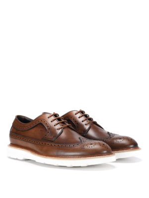 Tod'S: lace-ups shoes online - Vintage leather Derby brogue