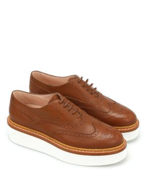 Tod'S: lace-ups shoes online - Wedge leather Oxford brogue