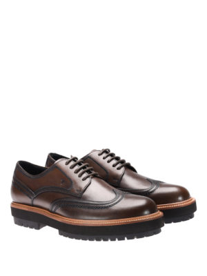 Tod'S: lace-ups shoes online - Wing-tip stitching leather lace-ups