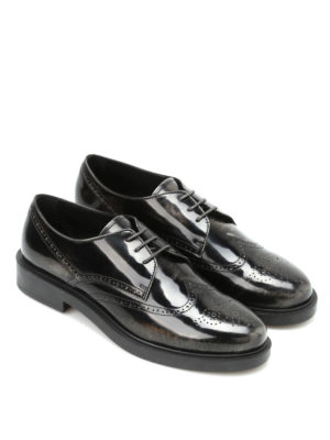 Tod'S: lace-ups shoes online - Worn effect leather Derby brogue