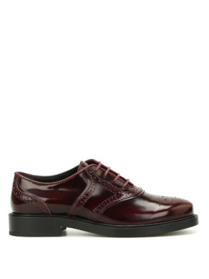 Tod'S: lace-ups shoes - Polished brogue lace-up shoes