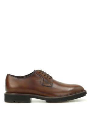 Tod'S: lace-ups shoes - Shaded leather Derby shoes