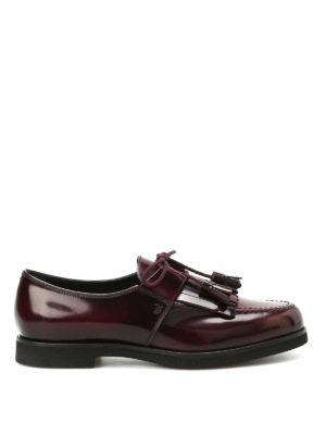 Tod'S: lace-ups shoes - Shimmering leather lace-ups
