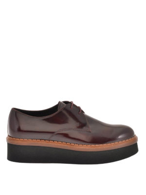 Tod'S: lace-ups shoes - Smooth leather wedge Derby