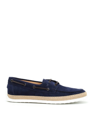 Tod'S: lace-ups shoes - Suede and jute lace-ups