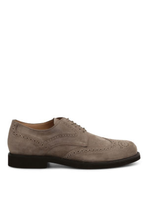 Tod'S: lace-ups shoes - Suede brogues shoes