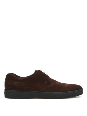 Tod'S: lace-ups shoes - Suede casual Derby